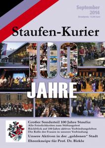 Staufenkurier 2014 - Jubiläumsausgabe